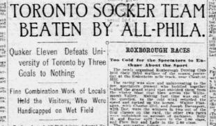 Philly vs Toronto, 1905