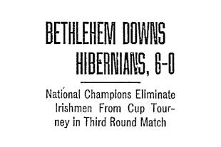 US Open Cup, 1916: Bethlehem Steel tops Hibernian in third round