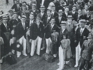 A dapper looking US team leaves for Italy