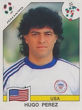 Perez would be featured on a 1990 World Cup player card but would be selected for a US World Cup squad until the 1994 tournament.