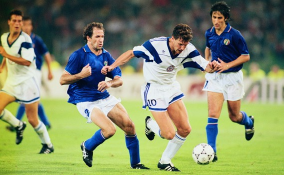 Willingboro's Peter Vermes against Italy, June 10, 1990