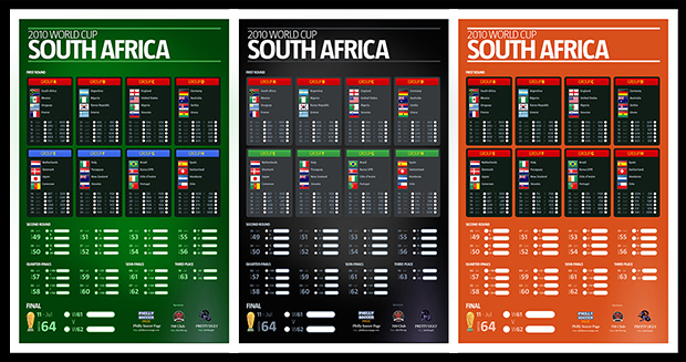 Exclusive free 2010 World Cup schedule posters