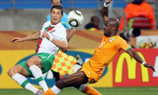 Portugal draws Ivory Coast; Ronaldo draws ire