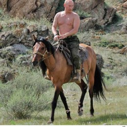 The horse? His name used to be Lenin. Now it is Oil Money.
