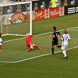 Sebastien Le Toux one times the ball into the back of the net