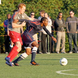 Okugo fends off Larentowicz in the 1-1 draw between the USMNT and the U-23s. Photo: Courtesy of US Soccer