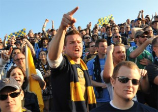 Fans' View: Screams from the sideline — Get up! Get up!