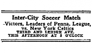 New Year's Day soccer in Philadelphia, 1913