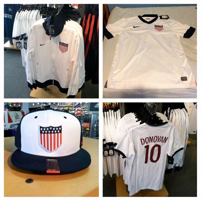@Kchristine tweeted some photos of the soon to be available US Soccer Centennial swag. Gonna get me one of those shirts (not the Donovan one).