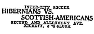 Hibs v Scottish Americans ad