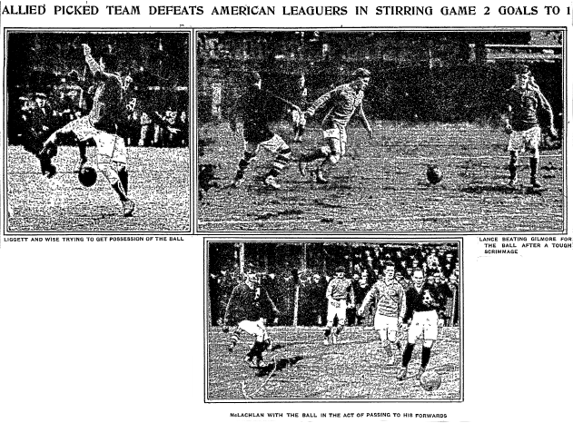 Inquirer montage of benefit game 2-2-1913