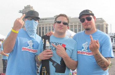 Founding members Jeremy, Wayne, and Justin. Photo courtesy of Bearfight Brigade.