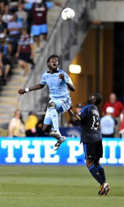 Kansas City will have to do without Kei Kamara now that he's scoring goals for Norwich in the EPL. Photo: Earl Gardner.