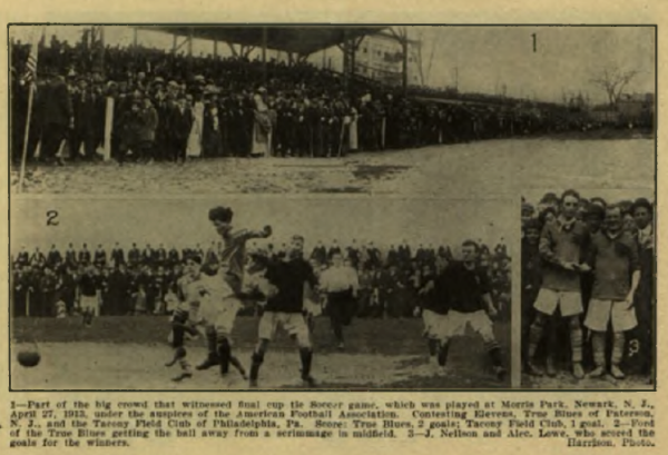 A record crowd was on hand for the final replay of the 1913 American Cup