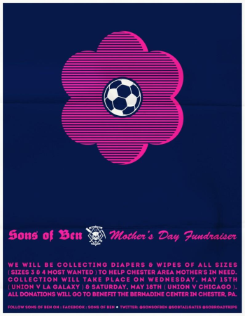 The Sons of Ben will be holding a Mother's Day Fundraiser.