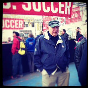 Philly soccer legend Walt Bahr at US Soccer Centennial celebration at Times Square. Photo: Courtesy of US Soccer.
