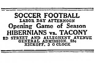 Philly Soccer 100: Summer soccer, 1913