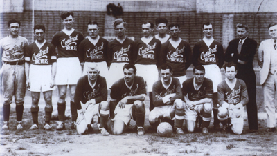 Central Brewers, 1934-35. McNab, Gonsalves, and Patenaude are in the front row. Photo: Courtesy of David Lange.