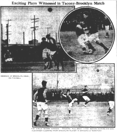 Photos from the Jan.18, 1914 edition of the Philadelphia Inquirer of the Tacony vs. Brooklyn American Cup match