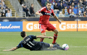 Chicago may have taken a step back by trading Austin Berry to Philadelphia. (Photo: Paul Rudderow)
