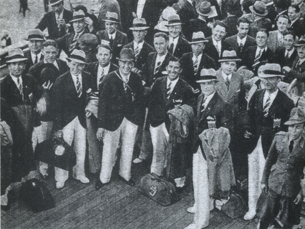 1934 US WC team leaving for Italy