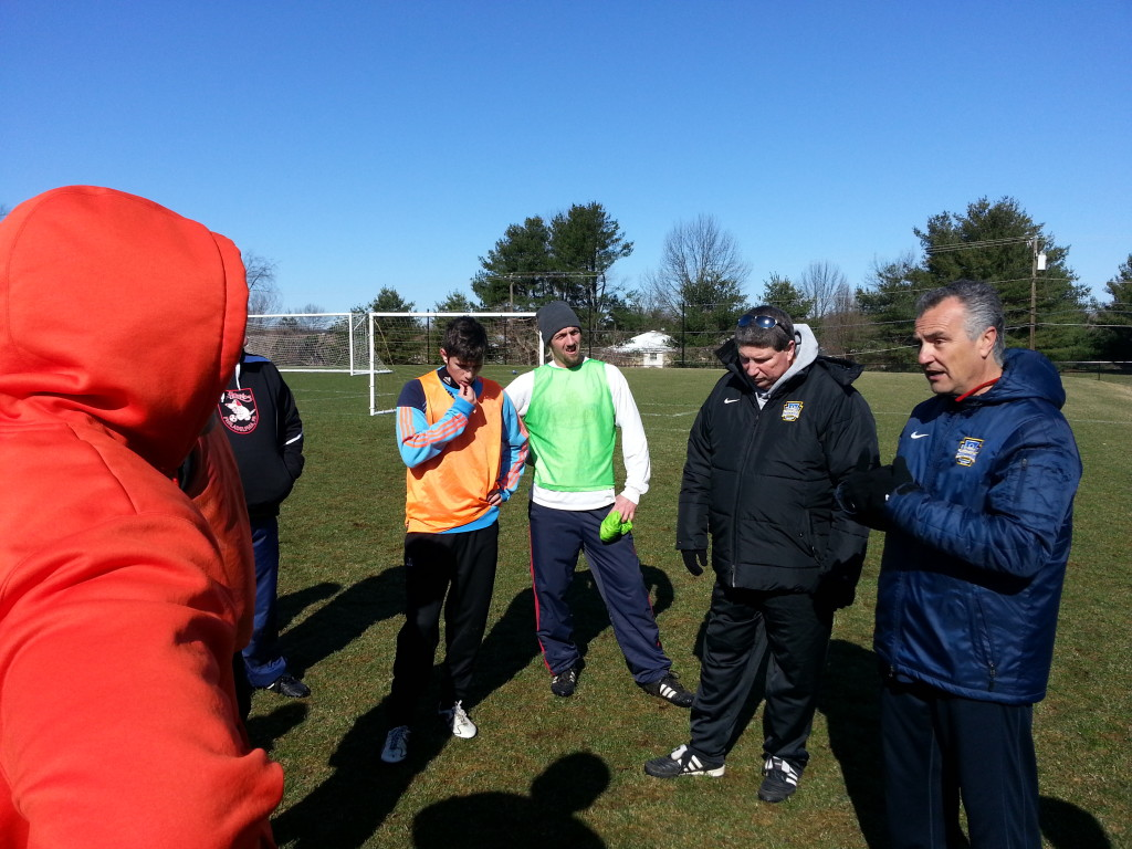 Antonio and Don giving instructions to the group