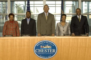 Chester city council is currently comprised of five Democrats, including mayor John Linder (center)