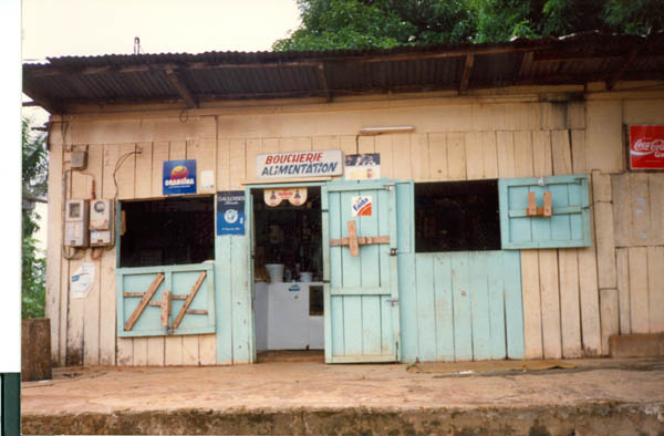 A shop in Gabon much like the one I describe.