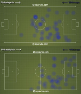 Nogueira wandered too much to be an effective partner for Edu in the first half.
