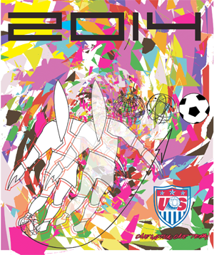 Official 2014 US WC poster