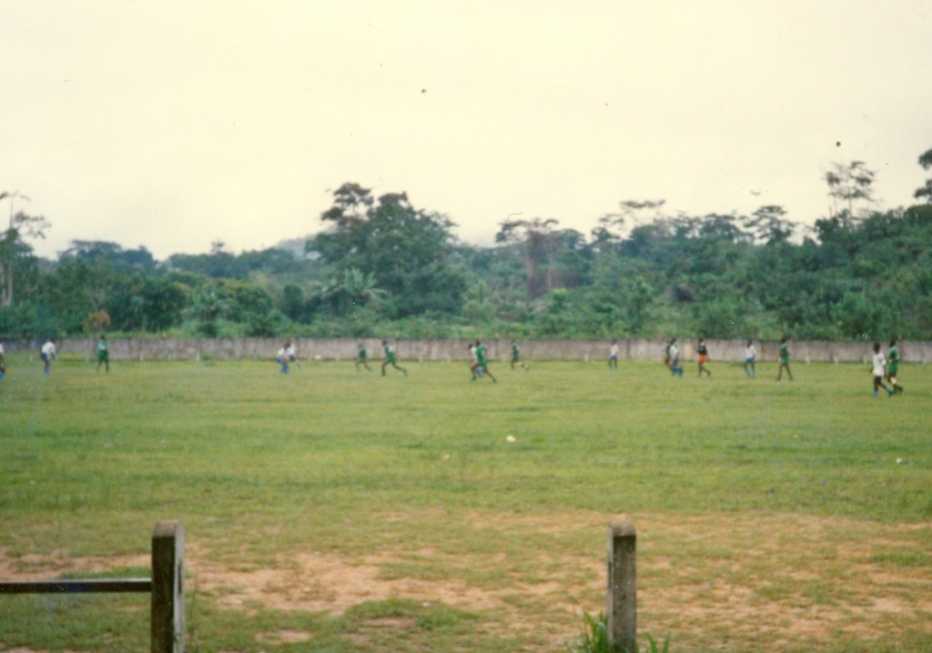 My local soccer stadium in Gabon