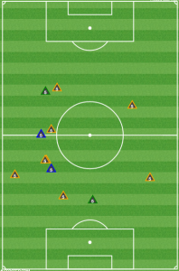 Nogueira recoveries (yellow) and defensive contributions vs KC