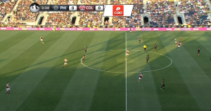 Against Colorado and New York, the Union played two banks of four with Maidana or Le Toux closing passing lanes behind Casey.
