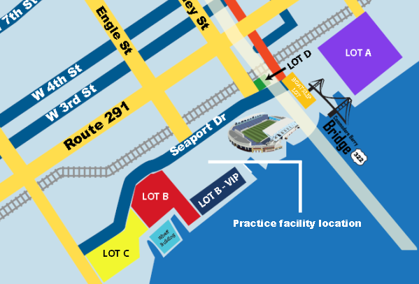 2015 PPL Park parking map
