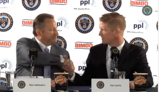 Video and transcript: Jim Curtin announced as Union manager