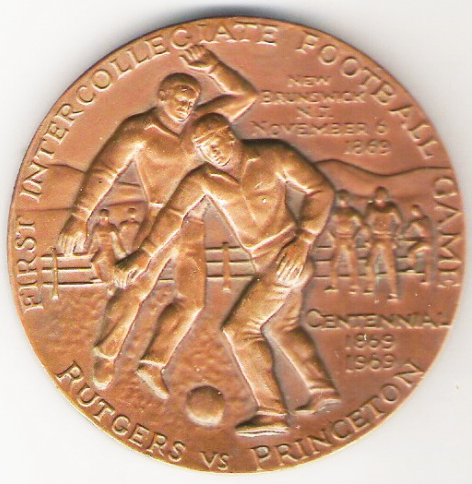 Medal commerating 1869 Rutgers-Princeton game