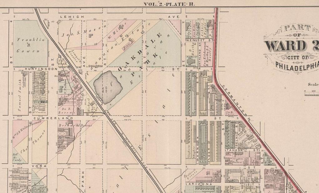 Oakdale Park City Atlas of Philadelphia, 21st & 28th Wards, 1875 v2