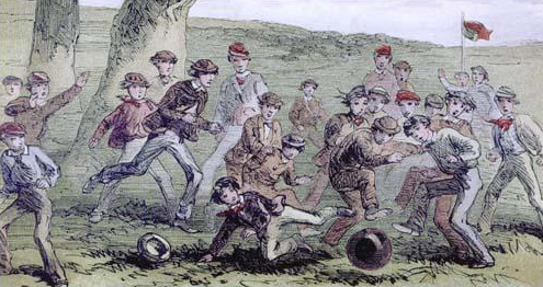 Public school football in England in 1860s