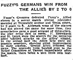 12-26-1914 Allies v Germans benefit match Inq p12