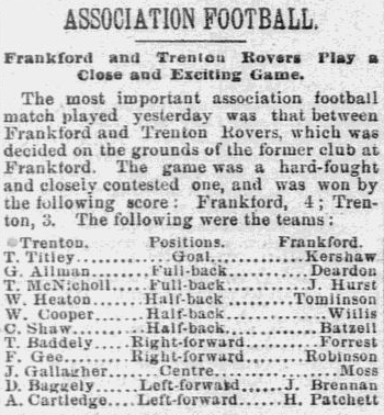 Frankford defeats Trenton Rovers 11-30-1890