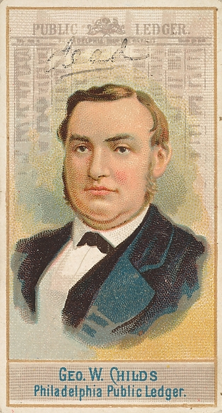 George W. Childs. From the Jefferson R. Burdick Collection, Metropolitan Museum of Art.
