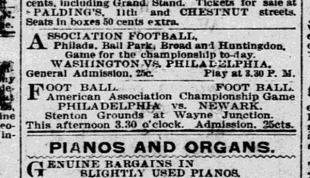 The origins of soccer in Philadelphia, part 8: Philly's first pro clubs appear during troubled times for city's first league