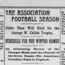 The origins of soccer in Philadelphia, part 7: Philly's first league continues to grow