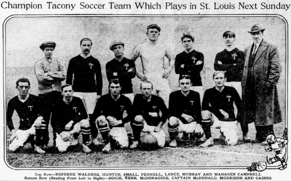 Archie Pennell with Tacony in 1911. Photo from Dece. 17, 1911 edition of the Philadelphia Inquirer.