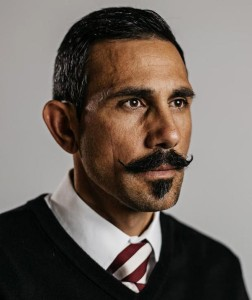 "Mastroeni before his famous ""Sawing my team's shape in half"" trick"