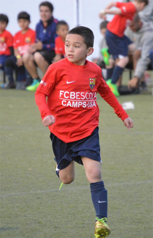 Ethan Manzella in action with Team USA in Barcelona. Photo: Jeff Manzella.