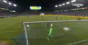Edu chasing back on LA's 3rd goal
