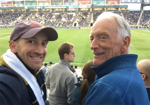 Scott and his dad at PPL Park.