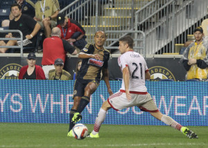 Fabinho on the wing against DC United. Photo: Paul Rudderow