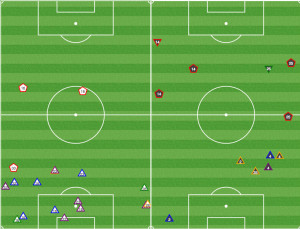 Not only did Columbus move the ball well, they had a plan for dealing with Union counters. If the ball was lost high up the pitch, the fullbacks were willing to take a foul to slow things down.